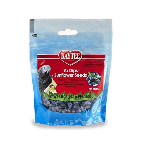 Kaytee Blueberry Flavored Yogurt Dipped Sunflower Seeds For Birds Treat,2.5 oz