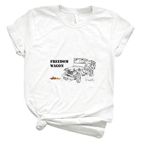 G503 Jεεƥ The Freedom Wagon - 1 77 - Unisex Shirt Men's Shirt Best Vintage Tee for Women Kids Youth Handmade