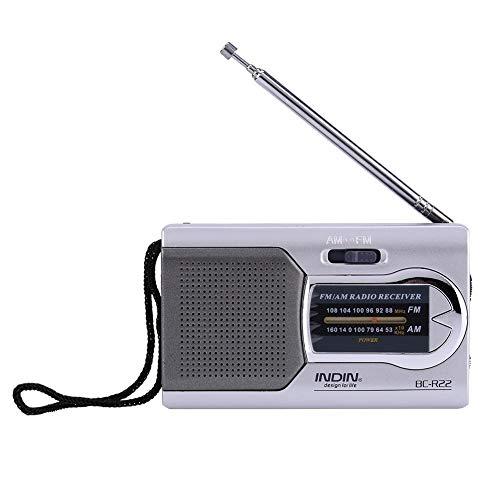 Universal Slim AM/FM Mini Radio Draagbaar Slim Draagbare Stereo Speakers Muziekspeler met Telescopische Antenne Wereld Universele FM 88-108 AM 530-1600 KHz
