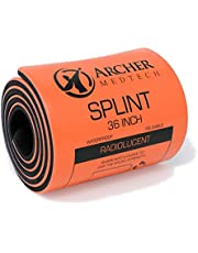 Universal First Aid Splint. Premium Quality Moldable Aluminum Splint for Injury Immobilization. Archer MedTech Brand