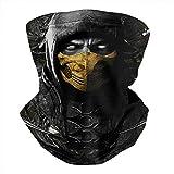 Winter Headwear Seamless Dust Cover Mask Poster-Mortal-Kombat-Scorpion- Bandana Balaclava Face Scarf