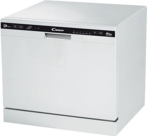 Candy CDCP 8 / E Freestanding 8place settings A+ dishwasher - dishwashers (Freestanding, White, Compact, Black, 8 place settings, 51 dB)