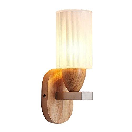 YU-K Chambre minimaliste lampe de chevet lampe murale salon élégant mur lampadaires dans l'étude du corridor routier appliques appliques LED verre bois blanc lumière du couloir de passage