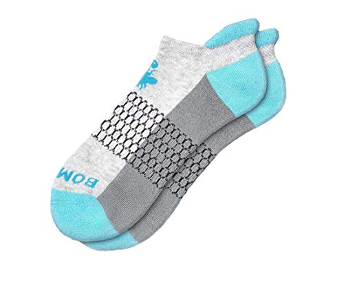 Bombas Women's Originals Ankle Socks, (Grey/Blue, Medium)