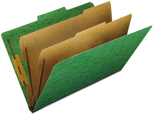 Esselte Pendaflex 2257G Pressspan Klassifizierung Folders Lgl 6-Section Light Grün 10 bx
