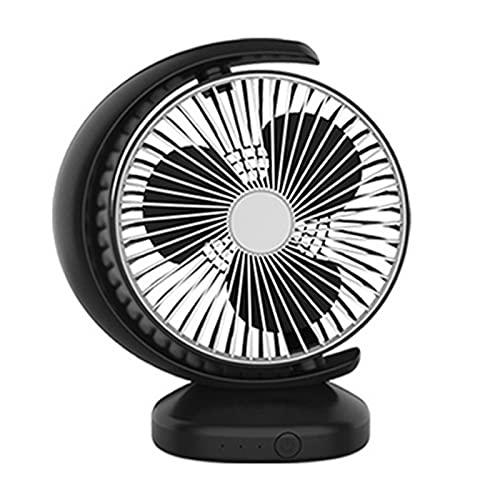 WANGLX Ventilador de Escritorio USB,Ventilador USB Silencioso,Ventilador de Mesa de Escritorio Portátil de Escritorio de 3 Velocidades Mini Ventilador,Black