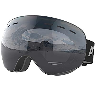 ACURE Ski Goggles- OTG Frameless Snow Snowboard Goggles of Dual Lens with Anti Fog and UV400 Protection for Men, Women, Adults & Youth