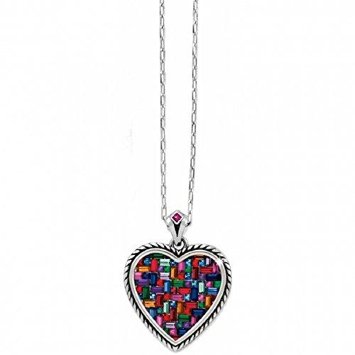 Brighton St Michel Colorful Heart Swarovski Crystal Necklace