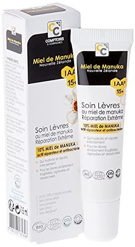 COMPTOIRS ET COMPAGNIES IAA15+ Soin Lèvres Réparation Extrême Bio au Miel de Manuka