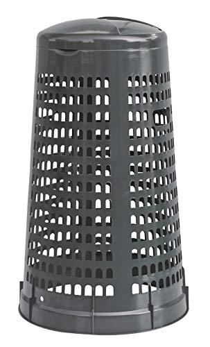 Trespolo bidone Portasacco 110 lt spazzatura da rifiuti differenziati o da riordino Mobil Plastic - Grigio scuro