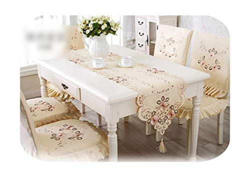 MEIOR Mantel bordado clásico floral, mantel cuadrado redondo, funda de mesa Toalha de mesa-Table Runner-Square 150 x 150 cm