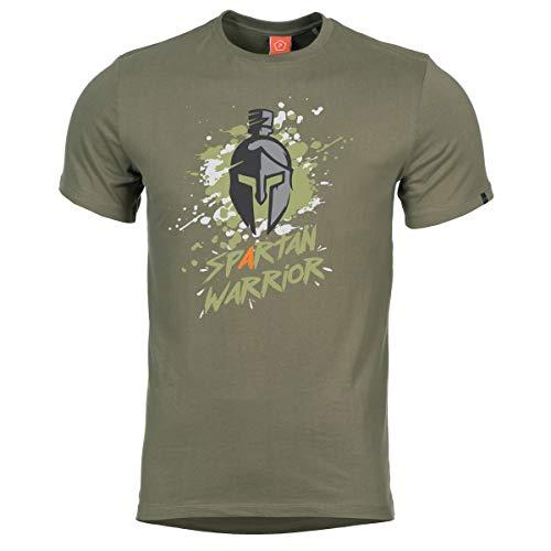 Uomo Ageron T-Shirt Spartan Warrior (Olive, XL)