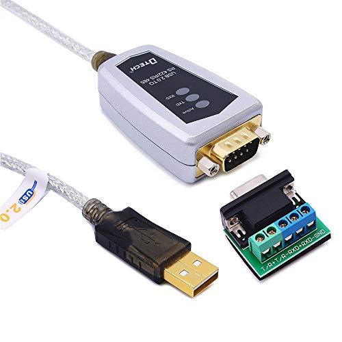 DTECH USB to RS422 RS485 シリアル ポート コンバーター アダプター ケーブル 0.5m FTDIチップセット内蔵 Windows 10 8 7 XP Linux Macなどに対応