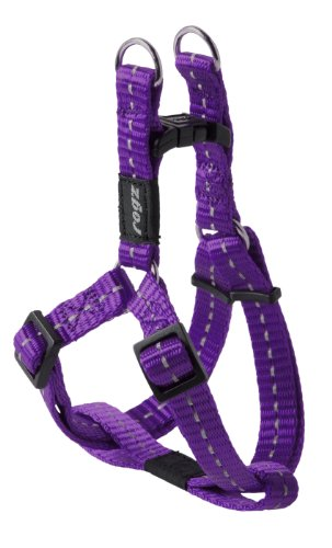 Reflective Step-in Adjustable Harness for Small Dogs; matching collar and lead available, Purple