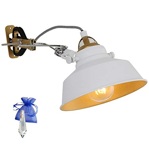 Giveaway - Lampada a morsetto con attacco E27, 230 V, stile vintage, per lampada da lettura industriale a LED e a incandescenza, 1320 W