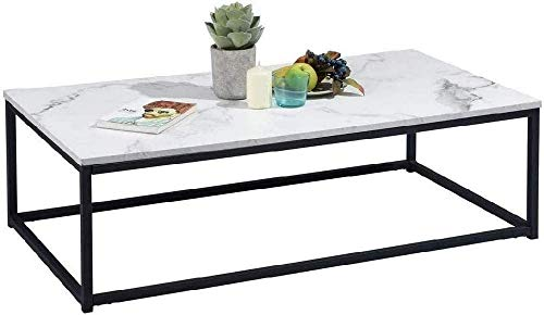 MEUBLE COSY table basse design moderne marble 110 x 60 x 34 cm