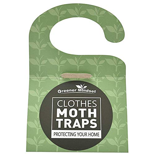 Clothes Moth Traps 7-pack with Premium Pheromone Attractant | Most Effective Trap Available | Non-Toxic Safe No Insecticides | Greener Mindset