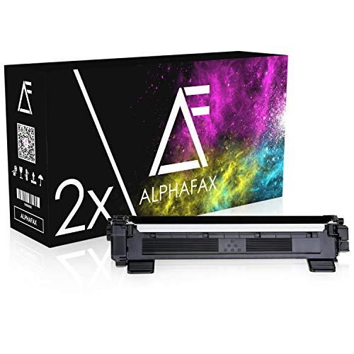 Alphafax 2 Toner kompatibel für TN-1050 für Brother DCP-1510, DCP-1512A, HL-1110, HL-1112, HL-1201, MFC-1910W, MFC-1911NW - Schwarz je 1.500 Seiten