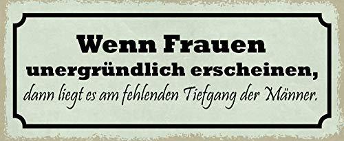 Schatzmix Spruch om kvinnor konstigt framträder metallskylt 27 x 10 dekoration plåtskylt, plåt, flerfärgad 27 x 10 cm