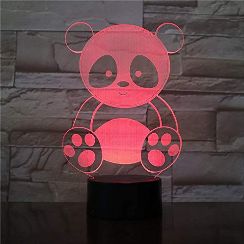 Cute Panda Cartoon Design Led Acrylic Night Lamp Various Colors Change Sweet Gift For Kids Cute Panda Cartoon Design Led Acrylic Night Lamp Various Colors Change Sweet Gift For Kids Cute Panda Cartoo