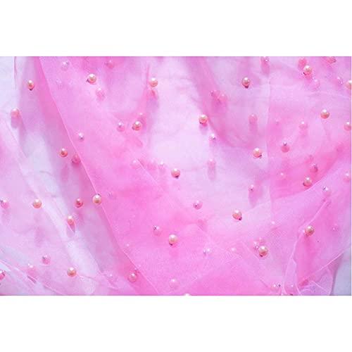 Fondo de Gasa de Perlas Rosadas para fotografía, Accesorios de Estudio fotográfico, Accesorios cosméticos para uñas, Fondo de Perfume, decoración de vinilo-220x150cm