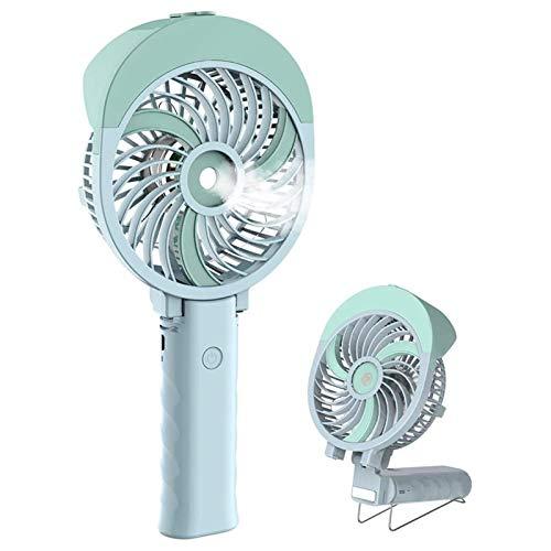 SHUILV Ventilador de Niebla de Mano Pequeño refrigeración USB Ventilador Recargable USB Aficionado aléctrico portátil con Agua con Spray de Agua para Viajar/Acampar/al Aire Libre