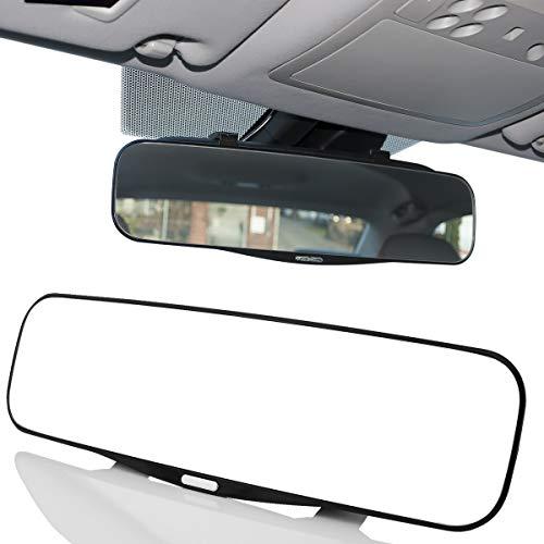 MidGard Espejo retrovisor Auto Panorama, Espejo Interior del automóvil, Espejo Ligeramente Curvado