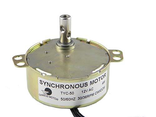 CHANCS Synchronmotor Ausgerichtet TYC-50 12V AC 30-36RPM CW/CCW 4W Kleiner Elektromotor zum Schulprojekt