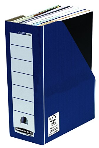 Bankers Box Premium Portariviste, Blu, Confezione da 10 Pezzi