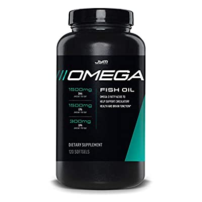 Omega JYM Fish Oil Capsules - Omega 3 Fatty acids, EPA, DHA and DPA   JYM Supplement Science   Omega, 120 Count