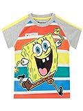 SpongeBob Camiseta de Manga Corta para nios Bob Esponja Multicolor 6-7 Aos
