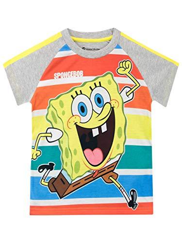 SpongeBob Camiseta de Manga Corta para niños Bob Esponja Multicolor 9-10 Años