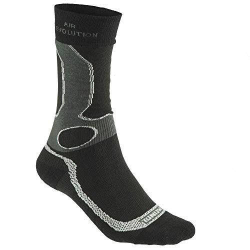Meindl Unisex Socken, schwarz/Silber, 40/43
