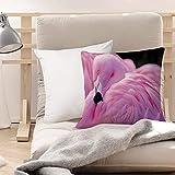 Funda de Cojines Suave Poliéster,Flamingo, Royal Flamingo chileno con el color del amor Rom,Funda de...