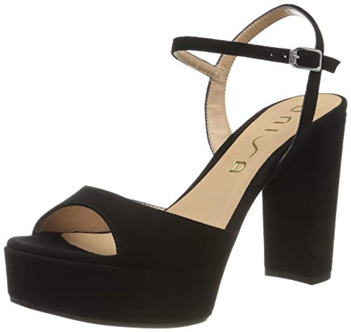 Unisa Women's platform Sandals , Black , 7 US