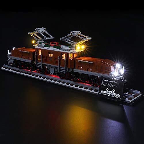 K99 LED Luce Compatibile per Lego Coccodrillo Locomotiva-Locomotive10277, Complesso Autogru per Lego Technic Serie Boy Girl Toy Building Block,Ordinary Paragraph