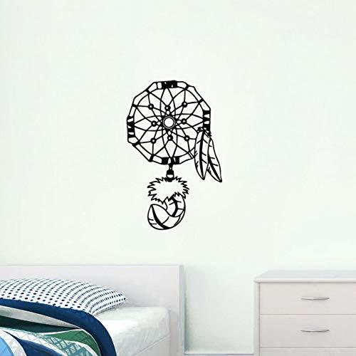 Pegatinas Pared Decorativas Decoración Mural Wall Stickers Mural De Arte Indian Amulet Dream Catcher Pegatinas De Pared Patrón Indio Vinilo Tatuajes De Pared Dormitorio Extraíble Decoración