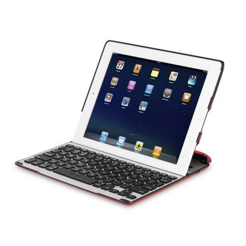 ZAGGkeys PROFolio Case w/ Bluetooth Keyboard for Apple iPad 2 / 3 / 4 - Red w/ Silver Keyboard
