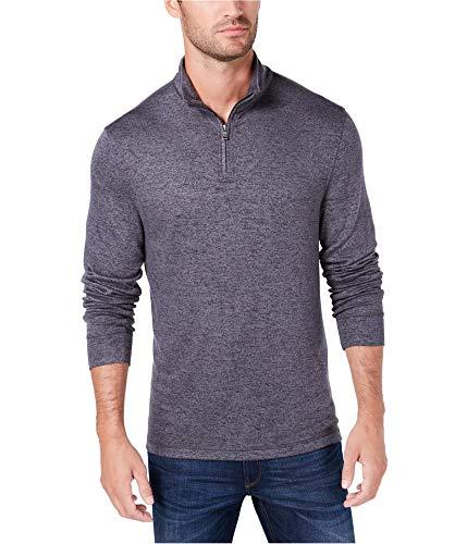Club Room Men's Quarter-Zip Sweater (Deep Black, Small)