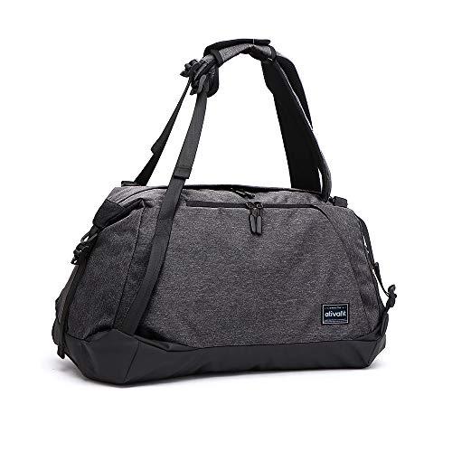 ATIVAFIT Sporttasche Reisetasche Weekender Tasche mit Schuhfach Große Fitnesstasche Trainingstasche mit Rucksack-Funktion Gym Sport Tasche mit Schulterriemen Handgepäck für Damen und Herren