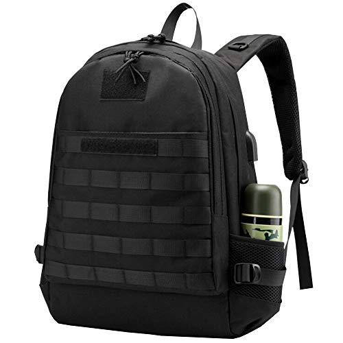 Men PUBG Laptop USB Backpack Military Tactical Rucksacks Travel Bag College Backpack