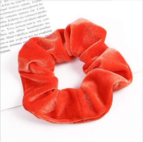 33colors elastische haar haar effen kleur schat houder paardenstaart Hoeden haaraccessoires,oranje