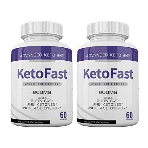 (2-Pack) Keto Fast Diet Pills BHB Advanced Ketogenic Keto Fast Burn Ultra Weight Management Capsules 700mg Pure Keto Fast Supplement for Energy, Focus Boost Exogenous Ketones for Rapid Ketosis 1