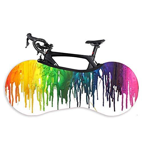 Accesorios para bicicletas Cubierta de rueda de bicicleta Anti-polvo bicicleta estática bolsa de almacenamiento a prueba de arañazos, fundas lavables de alta neumáticos elásticos paquete de la bolsa d