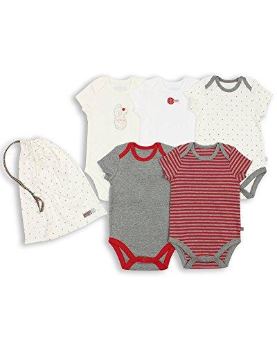 The Essential One - Paquete de 5 Body Bodies para bebé unisex ESS87