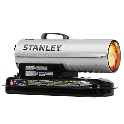 Best Prices! STANLEY ST-80T-KFA Kerosene/Diesel Forced Air Heater, 80,000 BTU, Silver