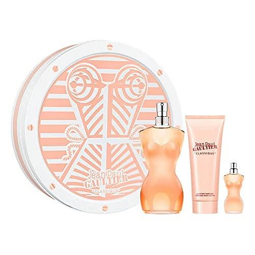 Set de Perfume Mujer Classique Jean Paul Gaultier EDT (3 pcs) Perfume Original | Perfume de Mujer | Colonias y Fragancias de Mujer