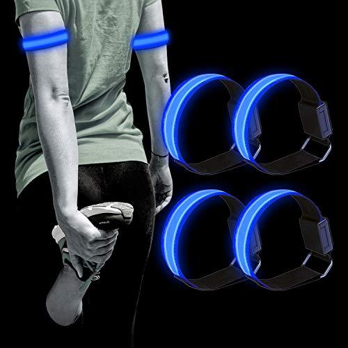 Dusor LED Leuchtband Jogger, Leuchtarmband Reflektorband Laufen Reflektor, Laufen Licht für Handgelenk, Arm, Knöchel, Bein, Lauflicht LED Reflektoren Joggen Sicherheitslicht Kinder
