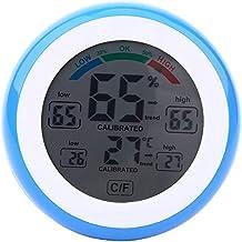GXT Higrómetro Higrómetro de termómetro Interior, medidor de Humedad Digital con Pantalla LCD Monitor de Humedad de Temperatura para Oficina en el hogar Habitación bebé (Color : Blue)