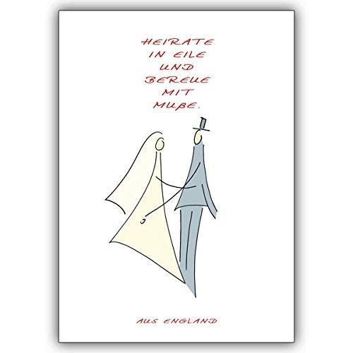 Wenskaarten met inkoopkorting: bruiloft spreukkaart: huwelijk in eliën en bere met mut. • Elegante vouwkaart met envelop als lieve groet voor jou. 16 Grußkarten